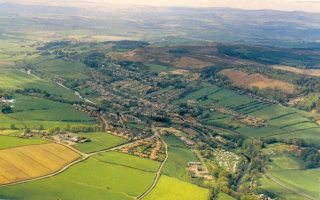 Aerial photograph of Rothbury
